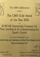 The CMS Gold Award of the Year 2016